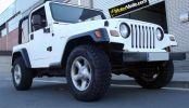 Jeep Wrangler en pellicola bianco opaca 3M
