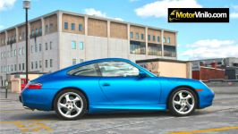 Porsche con pellicola Azul Opaca 1080