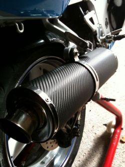 Scappamento Moto carbonio